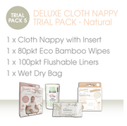 DELUXE CLOTH NAPPY TRIAL PACK - Natural - LittleShoppers