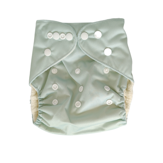 Pandas Bamboo Cloth Nappy and Insert - Woodland - LittleShoppers
