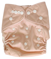 Pandas Bamboo Cloth Nappy and Insert -Dark Blush - LittleShoppers