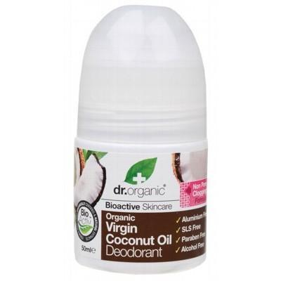 DR ORGANIC Roll-on Deodorant Organic Virgin Coconut Oil 50ml - LittleShoppers