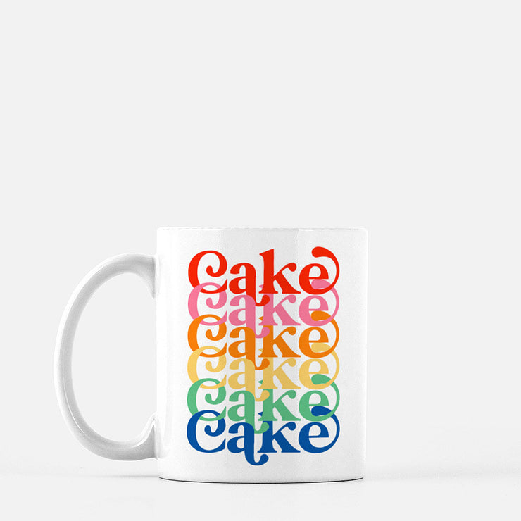 Rainbow Layer Cake Mug