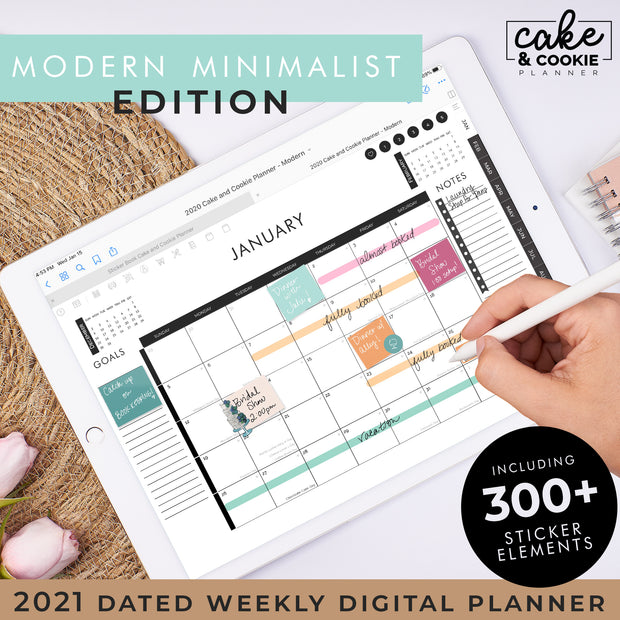 2021 Digital Planner for iPad and Tablets - Modern Edition