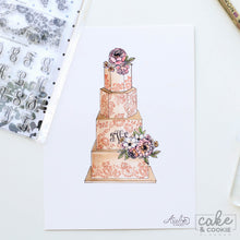 Cake Sketching Stamps - Lace & Monograms