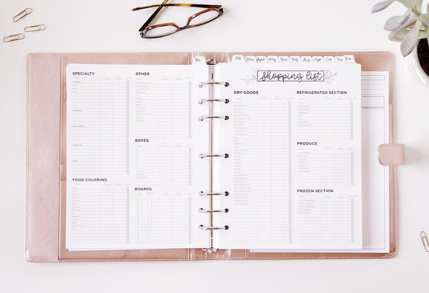 Rose Gold Planner Base Package
