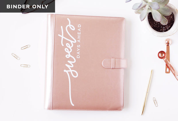 Rose Gold Binder