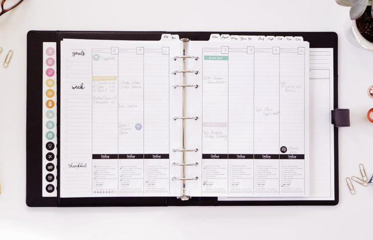 Black Planner Package + Consult Notepads & Stickers