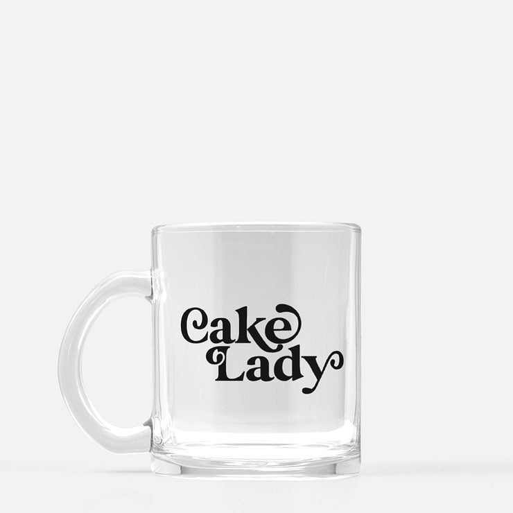 Cake Lady Glass Mug