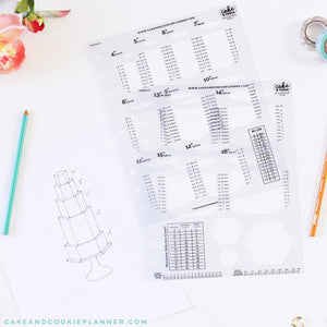 FULL SET Cake Sketching Templates v 2 0 – Avalon Cakes