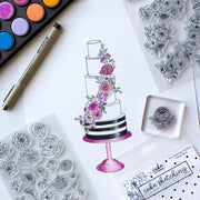 Cake Sketching Stamps - Floral Essentials