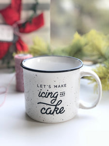 Make Icing and Cake Into Art Camper Mug