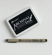 Archival Inkpad and Micron Pen