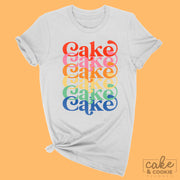 Rainbow Layer Cake Unisex Tee