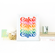 """Rainbow Layer Cake"" Print"