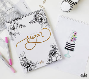 """Inspired by Sugar"" Dotted Cake Sketchbook"