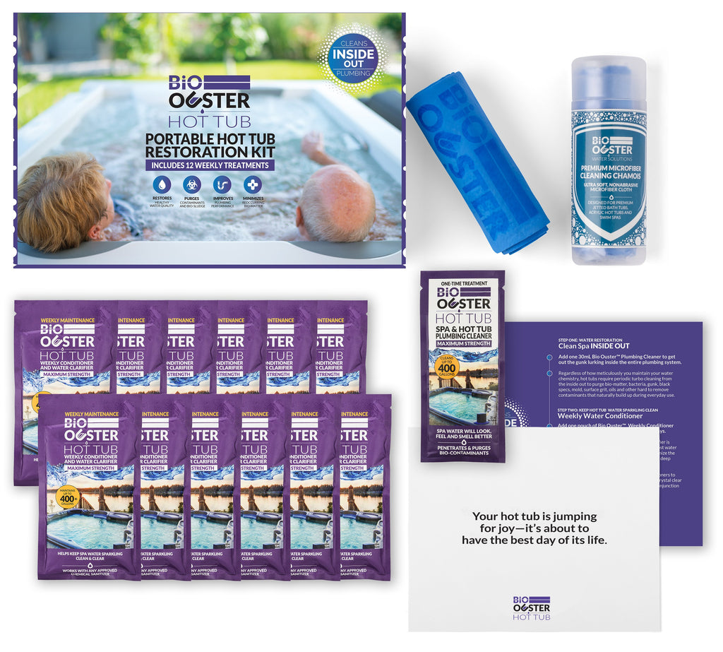 Complete Hot Tub Restoration Kit (Lasts 3 Months) – Ouster Water ...