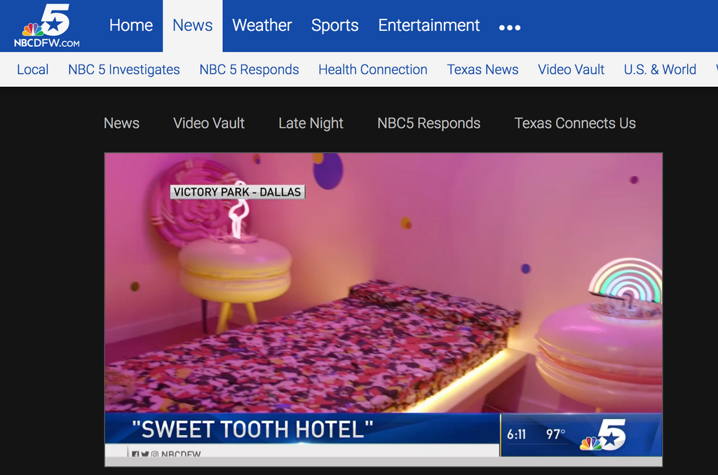 NBC5: Sweet Tooth Hotel