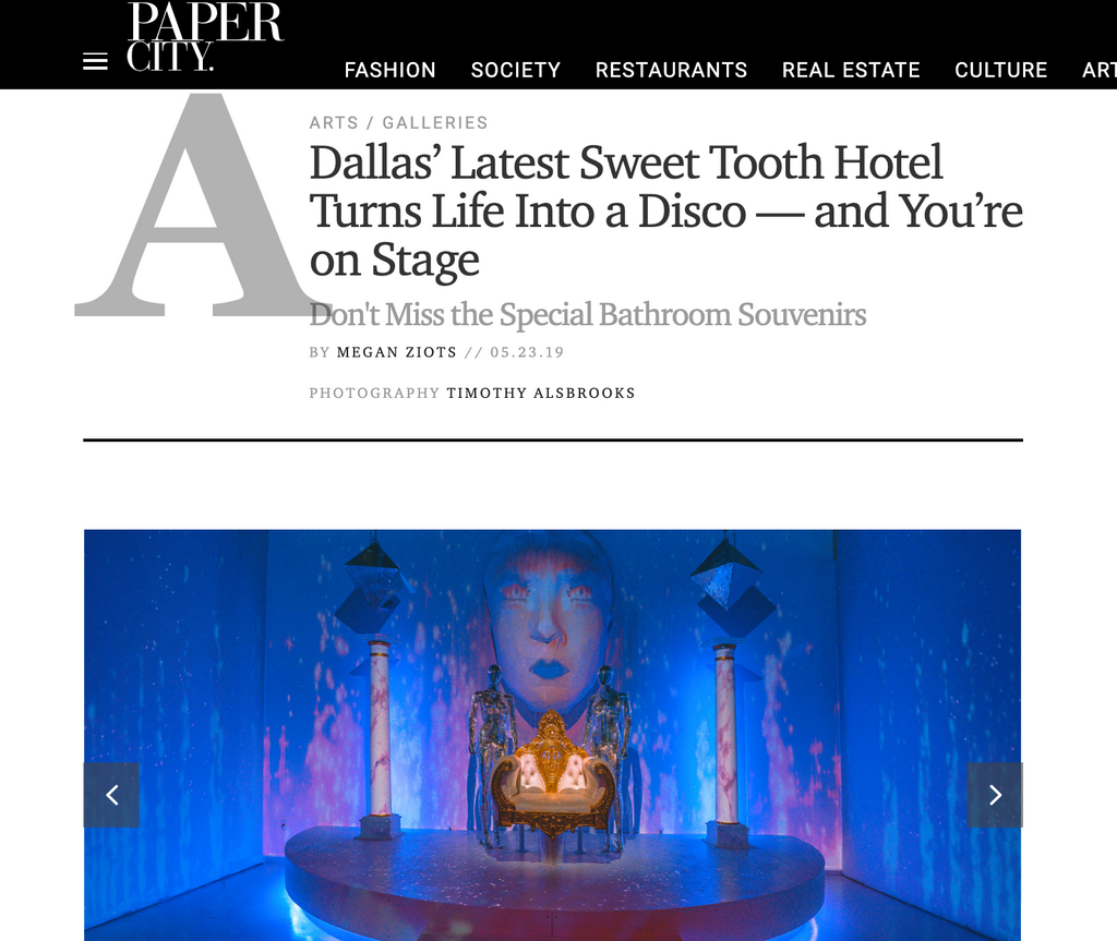 PaperCity: Dallas' Latest Sweet Tooth Hotel Turns Life Into a Disco — and You're on Stage
