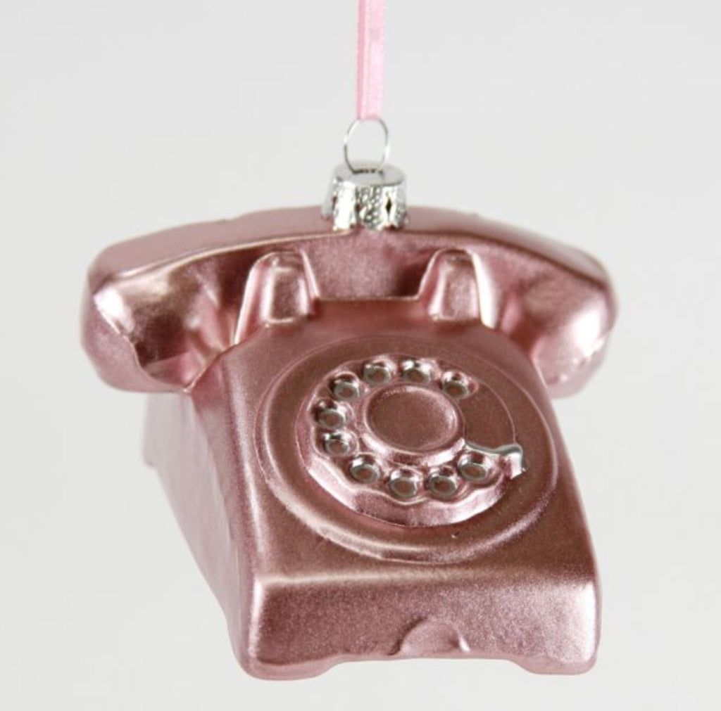 Rotary Phone Pink Ornament
