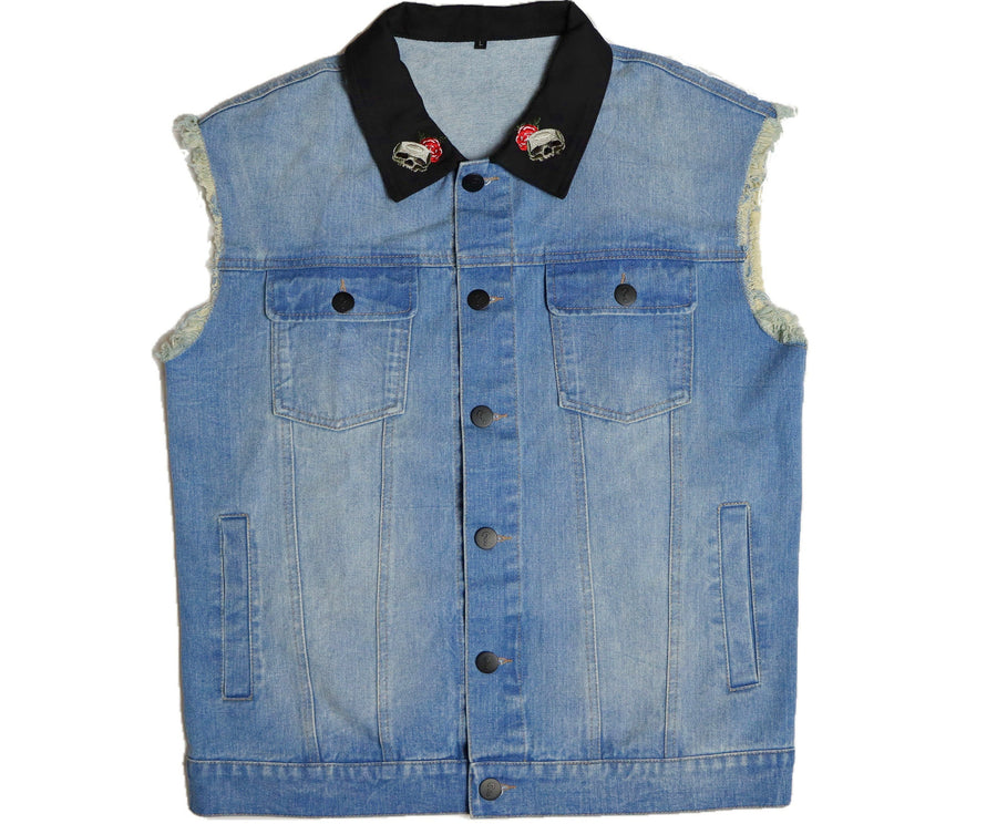 [Le Crâne] Denim Sleeveless Jacket