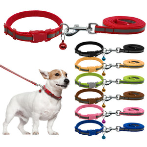 Nylon Reflective Dog Collar & Leash Set
