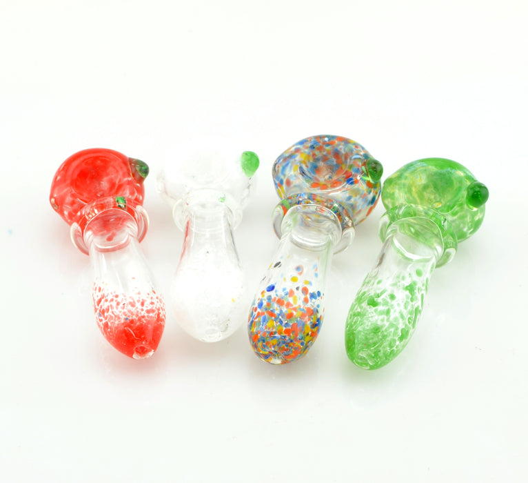 "3"" Single Ring Frit Color Head & Mouth Hand Pipe - SmokeZone 420"
