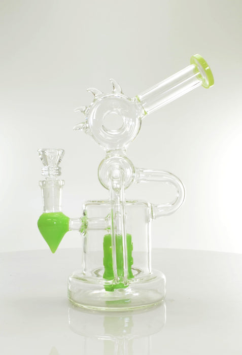 "9"" Color Shower Perc Mohawk Water Pipe - SmokeZone 420"