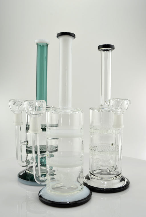 "11"" Double Honeycomb & Wheel Perc Water Pipe - SmokeZone 420"