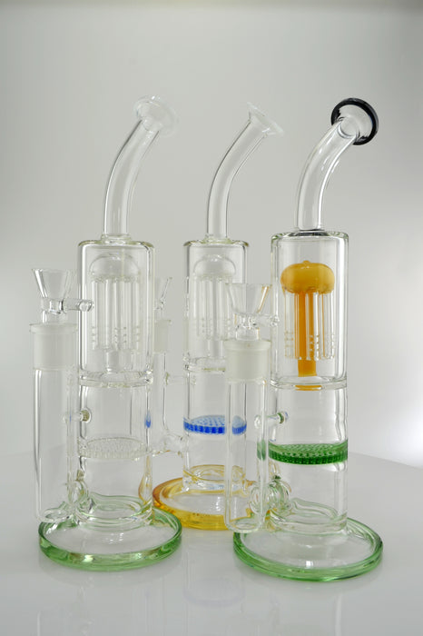 "12"" Tree & Honeycomb Perc Water Pipe - SmokeZone 420"