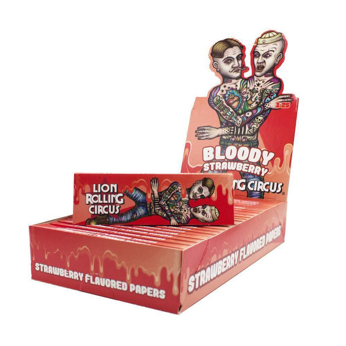 Lion Rolling Circus Flavored 1¼ Rolling Papers - Bloody Strawberry - SmokeZone 420