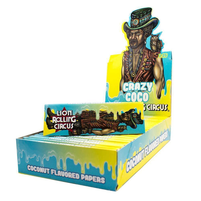 Lion Rolling Circus Flavored 1¼ Rolling Papers - Crazy Coco - SmokeZone 420