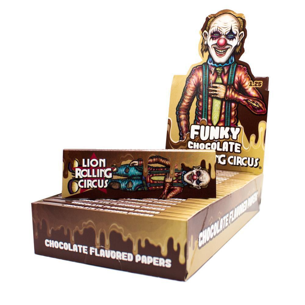 1 1/4 Lion Rolling Circus Flavored Rolling Papers - Funky Chocolate - SmokeZone 420