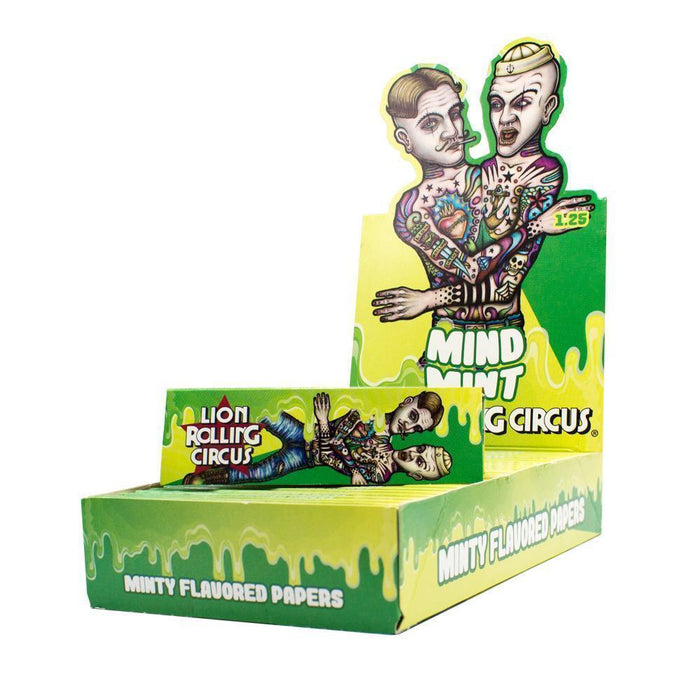 Lion Rolling Circus Flavored 1¼ Rolling Papers - Mind Mint - SmokeZone 420