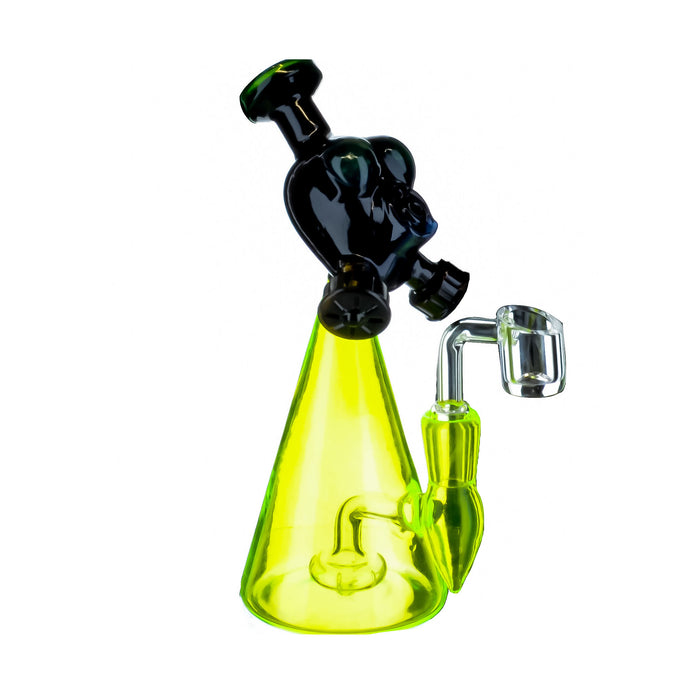"8"" Bio Mask UV Reactive Dab Rig - SmokeZone 420"