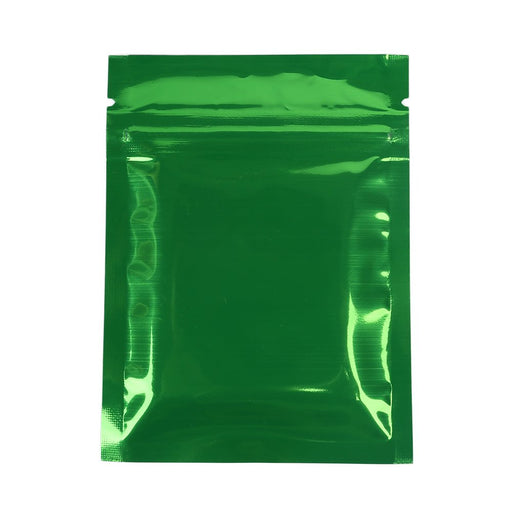 1 Ounce Green Mylar Bag (Pack Of 50) - SmokeZone 420