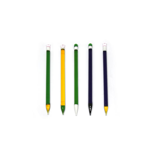 "5"" Glass Pencil Dabbers (10 Pack) - SmokeZone 420"