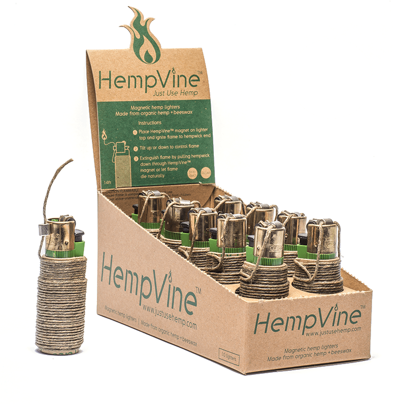 HempVine Clipper 14ft Magnetic Hemp Lighters - SmokeZone 420