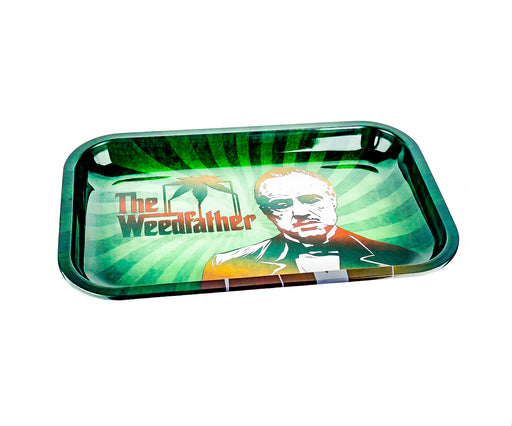 "The Weedfather Rolling Tray 11""x7"" - SmokeZone 420"