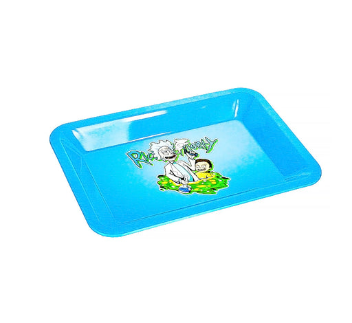 "R & M Light Blue Rolling Tray 7""x5' - SmokeZone 420"