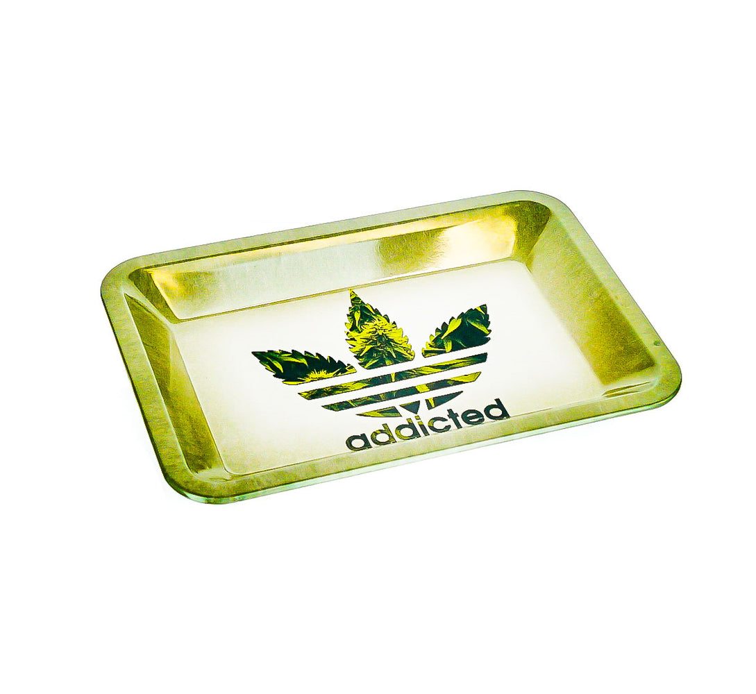 "Addicted Rolling Tray 7""x5"" - SmokeZone 420"