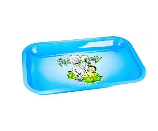 "R & M Light Blue Rolling Tray 11""x7"" - SmokeZone 420"