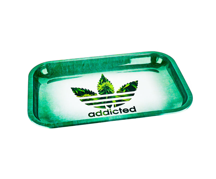 "Addicted Rolling Tray 11""x7"" - SmokeZone 420"