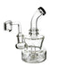 "6"" Thick Round Base Shower Perc Dab Rig - SmokeZone 420"