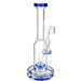 "8"" Round Body Straight Tube Dab Rig (ONLY AVAILABLE IN SMOKE GREY & TEAL) - SmokeZone 420"