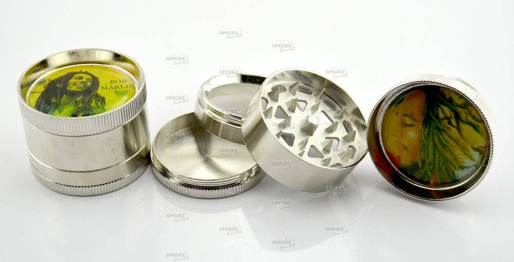 Bob Marley 2 Inch 4 Part Grinder (Assorted Designs) - SmokeZone 420