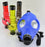 Blue Color Gas Mask With Acrylic Tube - SmokeZone 420