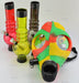 Rasta Color Gas Mask With Acrylic Tube - SmokeZone 420
