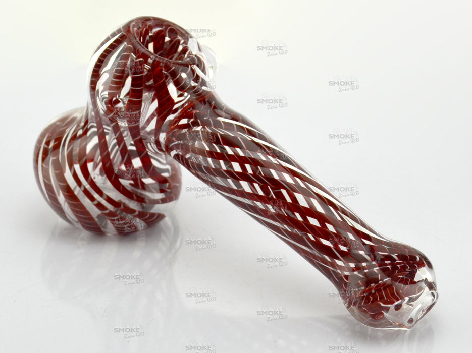 "6"" Twisted Color Heavy Hammer Bubbler - SmokeZone 420"