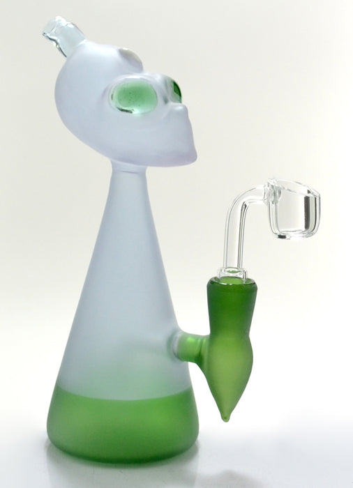"8"" Frosted Color Alien Dab Rig - SmokeZone 420"