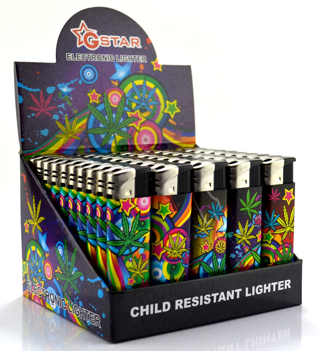 GSTAR Leaf Design Refillable Lighters - SmokeZone 420