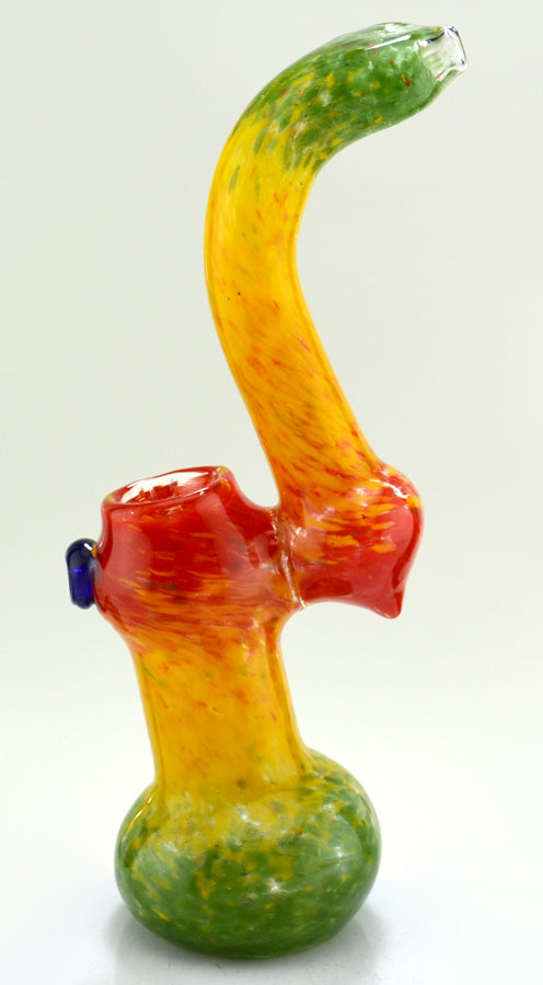 "9"" Full Frit Rasta Color Sherlock Bubbler - SmokeZone 420"